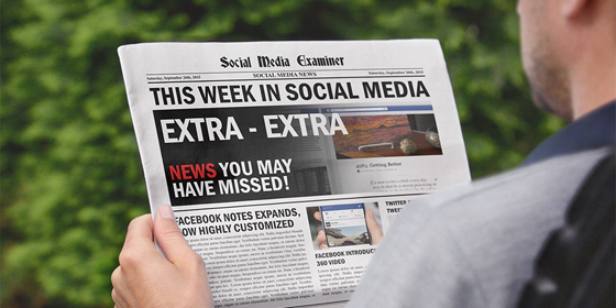 Facebook Notes Enhancements: This Week in Social Media