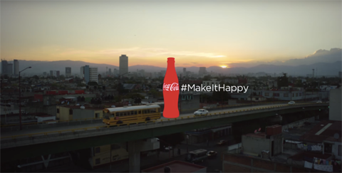 coca-cola hashtag billboard