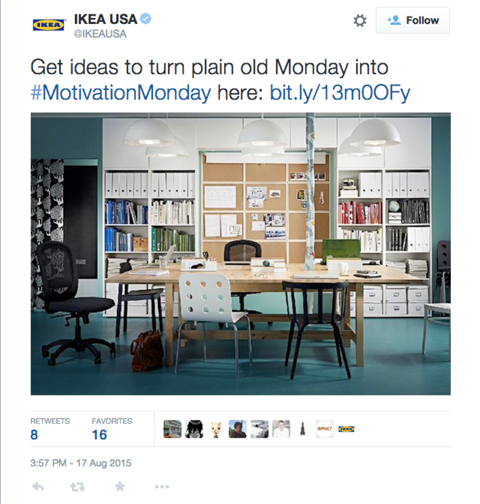 ikeausa motivationmonday tweet