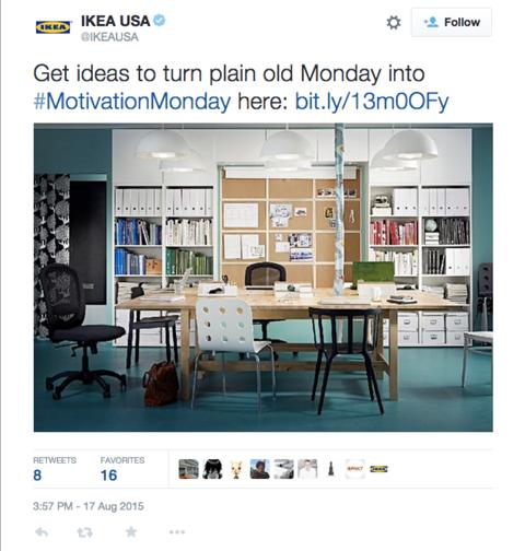 ikeausa motivationmonday tweet
