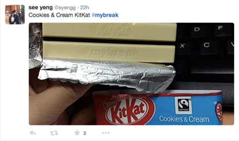 kitkat customer tweet