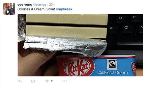 kitkat customer tweet