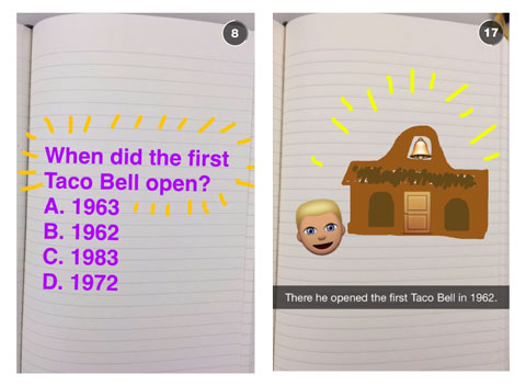 taco bell snapchat images