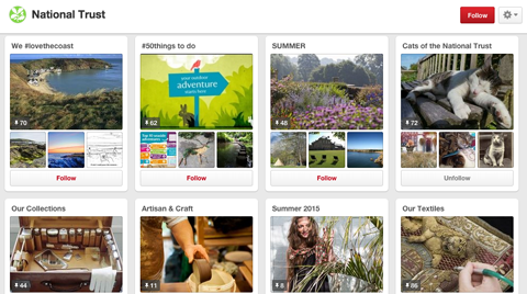 national trust pinterest boards