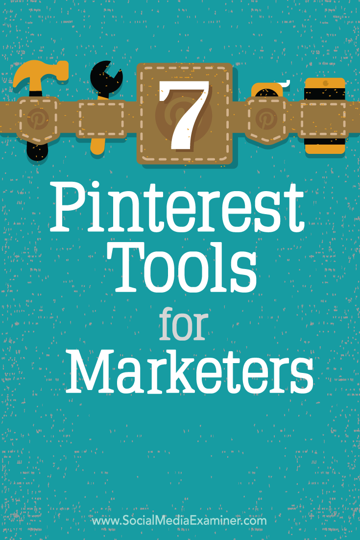seven pinterest tools for marketers