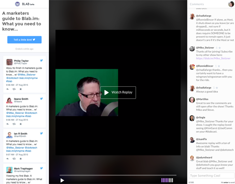 monitor comments for blab replays image