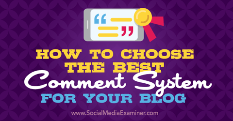 choose a comment system for your blog