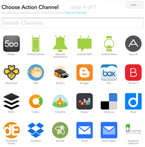ifttt action channels