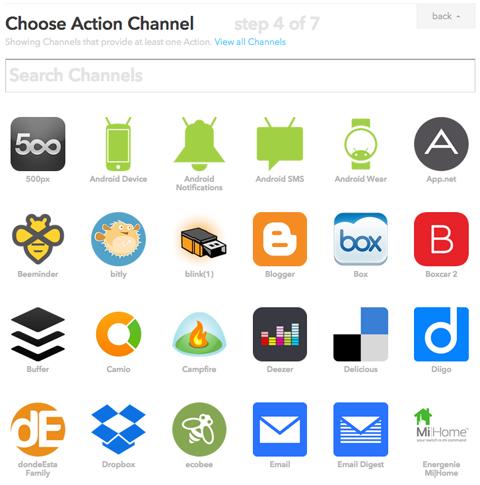 ifttt action channels