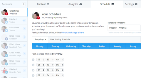 pinterest buffer schedule