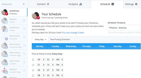 pinterest buffer schedule