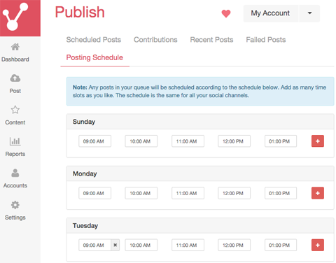 publish pin posting schedule on viraltag