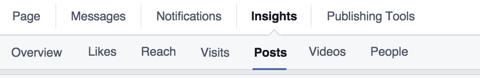 facebook insights post tab