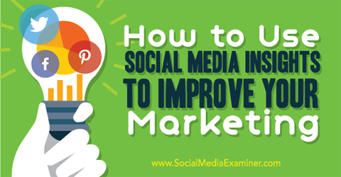 use facebook twitter and pinterest insights to improve social media marketing