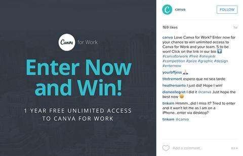 canva instagram Bild