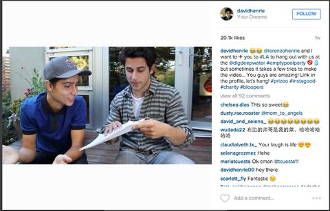 Beispiel für einen Instagram-Influencer