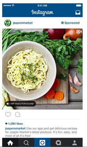 Jaspersmarket Instagram Videoanzeige