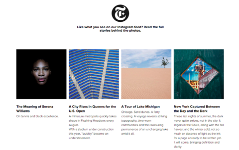 New York Times Instagram Bilder