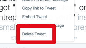 delete a tweet feature menu