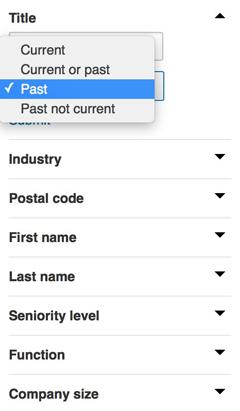 linkedin sales navigator lead filters
