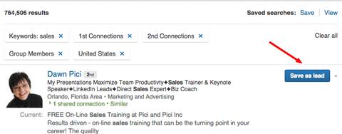 linkedin sales navigator lead builder lead save
