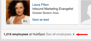 linkedin sales navigator see company employees
