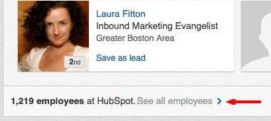 linkedin sales navigator see company employees
