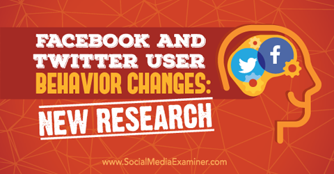 twitter and facebook user behavior research