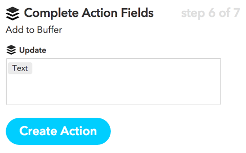 ifttt create action button