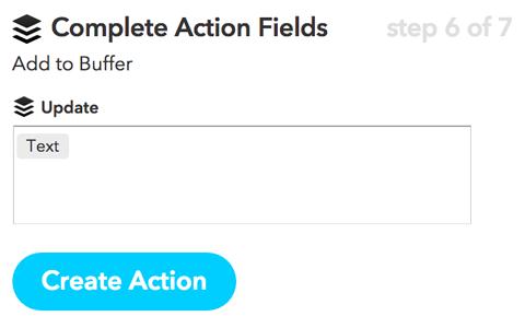 ifttt create action button