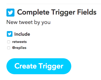 ifttt create trigger button