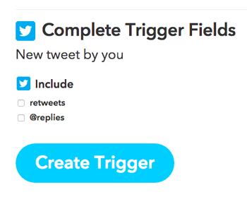 ifttt create trigger button