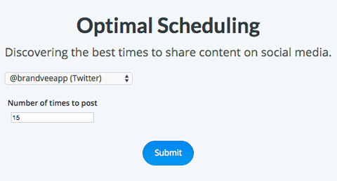 buffer optimal timing tool quantity suggestions
