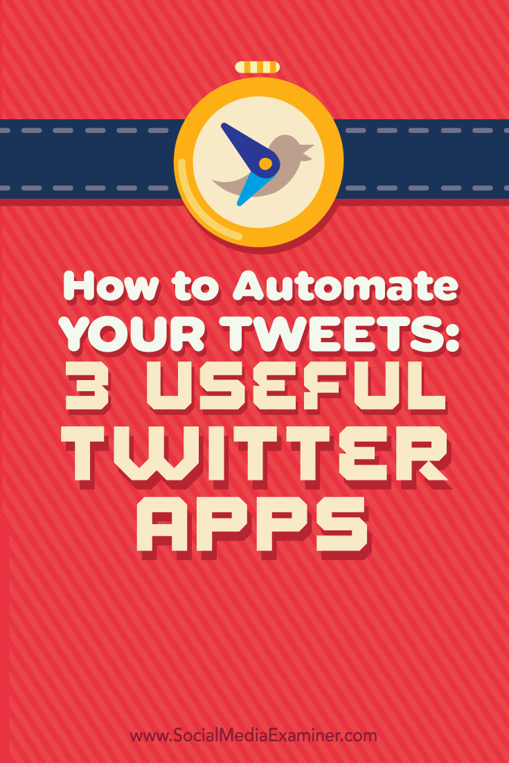 how to automate your tweets