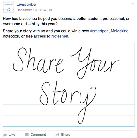 livescribe facebook post