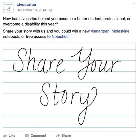livescribe facebook post