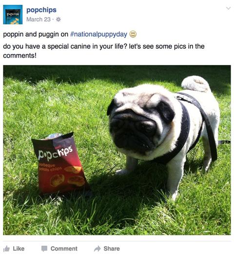 popchips facebook post