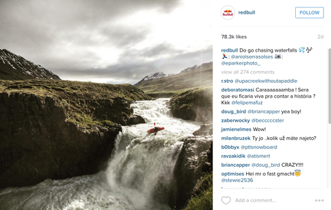 red bull instagram post