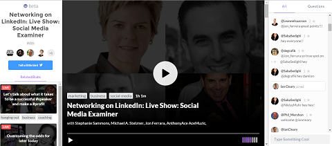 LinkedIn Podcast on Blab