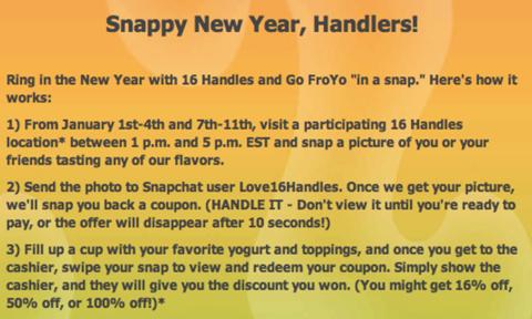 16handles snap campaign promo