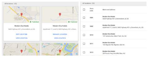 google my business portal update