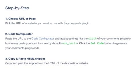 facebook comments set up steps