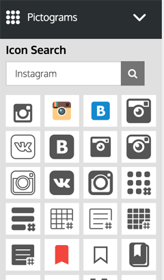 pictogram icon selection