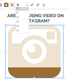 icon chart infographic creation on instagram