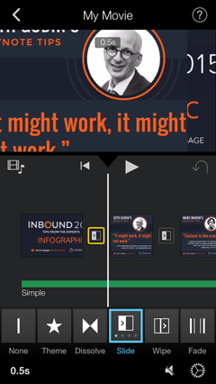 cropped infographic section in video app
