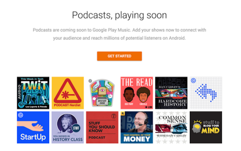google play welcomes podcasts