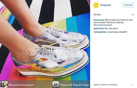 flor instagram image post