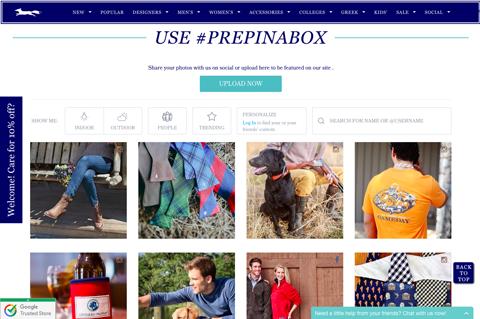 #prepinabox fan content display