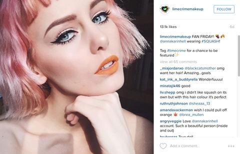 limecrime fan instagram repost