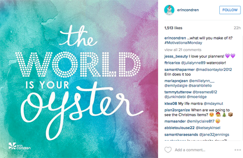 erincondren #motiviationmonday instagram
